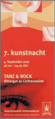 Kunstnacht in Lichtenwalde am 04.09.2010