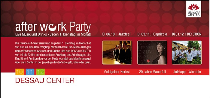 after-work-party Dessau Center